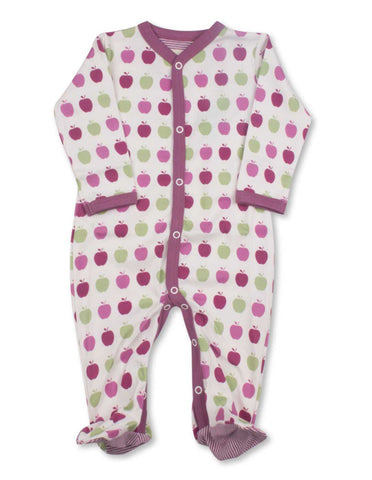 Apple One-Piece Multi Pink Organic Cotton | Penguin Organics