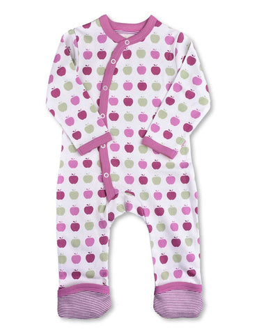 Apple Kimono Romper Multi Pink Organic Cotton