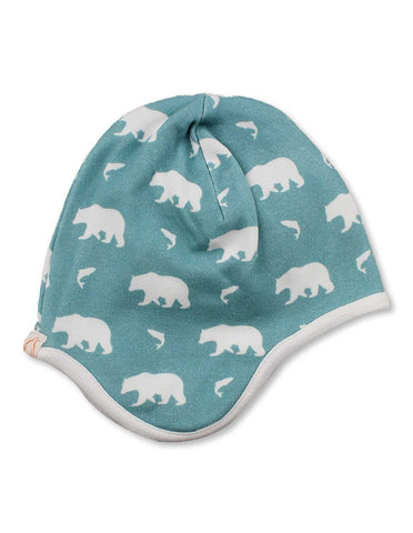 Bear Bonnet Blue Organic Cotton