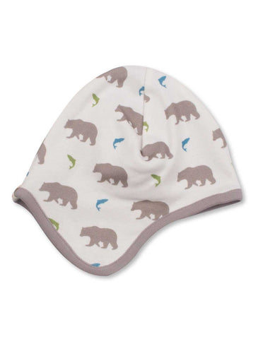 Bear Bonnet Multi Grey Organic Cotton