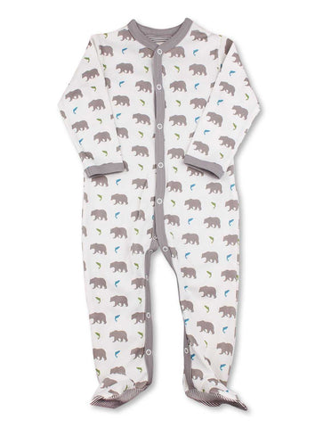 Bear One-Piece Multi Grey Organic Cotton