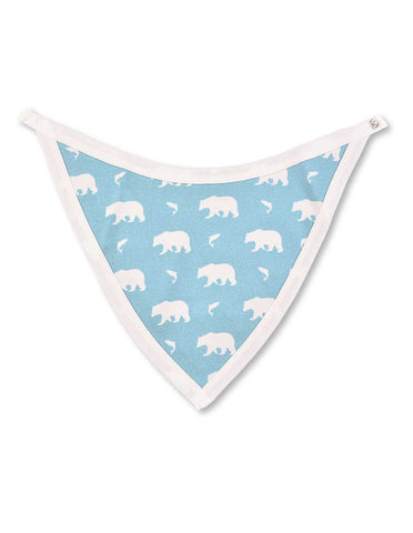 Bear Bib Blue Organic Cotton | Penguin Organics