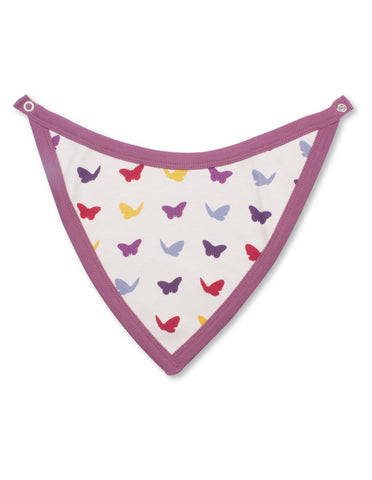 Butterfly Bib Multi Raspberry Organic Cotton | Penguin Organics