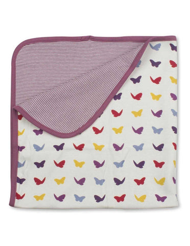Butterfly Blanket Multi Raspberry Organic Cotton | Penguin Organics
