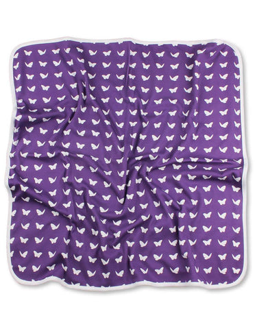 Butterfly Blanket Purple Organic Cotton