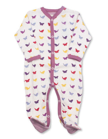 Butterfly One-Piece Multi Raspberry Organic Cotton | Penguin Organics