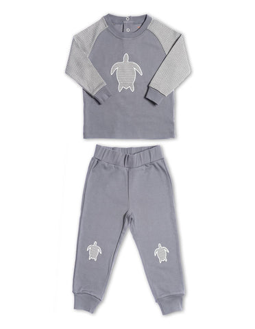 Turtle Playset Organic Cotton Grey