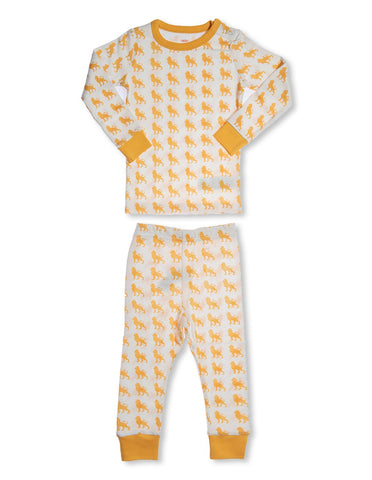 Organic Cotton Pajamas  Lion Orange