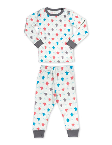 Organic Cotton Pajamas Turtle Multi