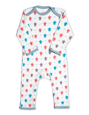 Organic Cotton Romper Multi Turtle
