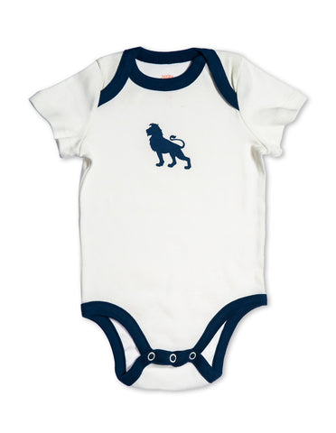 Lion Organic Cotton Bodysuit Blue