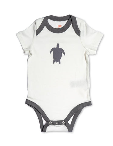 Turtle Organic Cotton Bodysuit Grey
