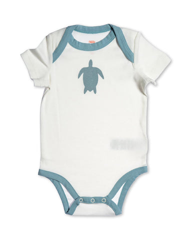 Turtle Organic Cotton Bodysuit Blue
