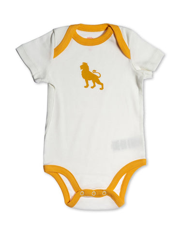 Lion Organic Cotton Bodysuit Orange