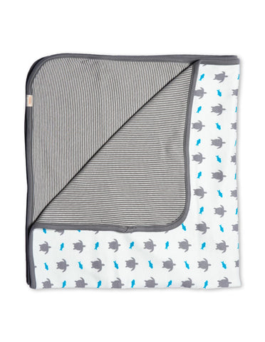 Turtle Organic Cotton Blanket Grey