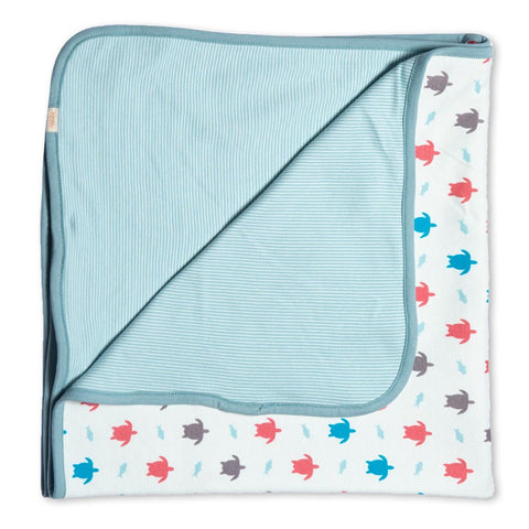 Turtle Organic Cotton Blanket Multi
