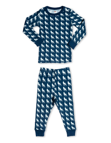 Organic Cotton Pajamas  Lion Blue