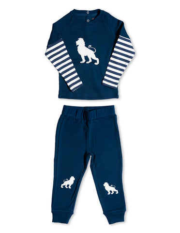 Lion Playset Organic Cotton Blue