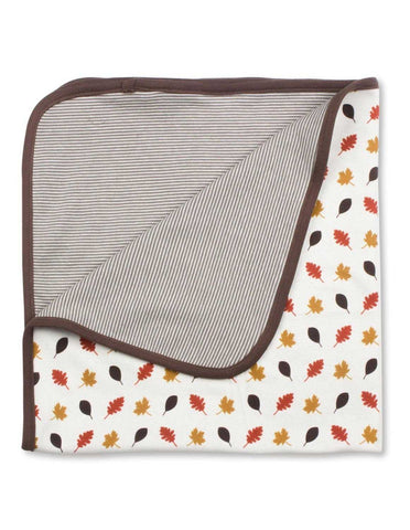 Leaves Blanket Multi Brown Organic Cotton