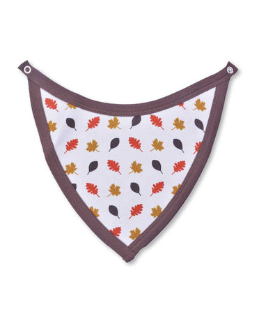 Leaves Bib Multi Brown Organic Cotton | Penguin Organics