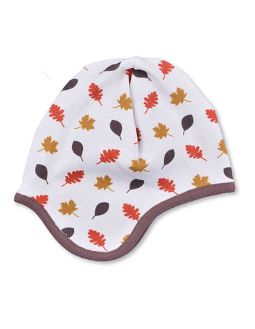 Leaves Bonnet Multi Brown Organic Cotton | Penguin Organics