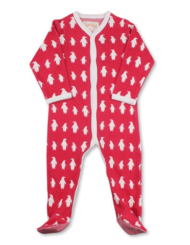 Penguin One-Piece Red Organic Cotton
