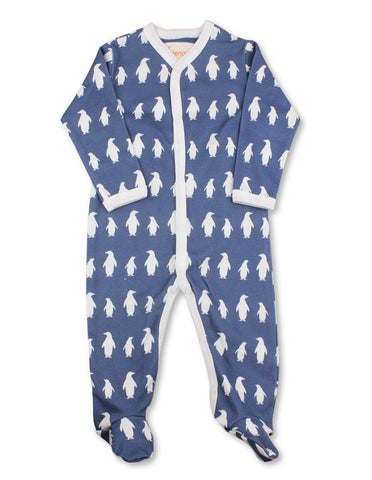 Penguin One-Piece Dark Blue Organic Cotton
