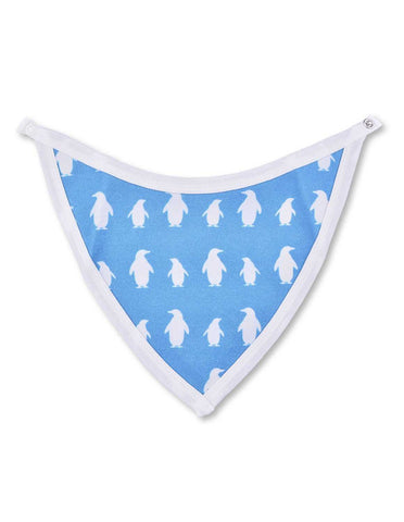 Penguin Bib Blue Organic Cotton