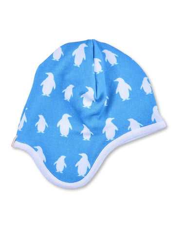 Penguin Bonnet Blue Organic Cotton