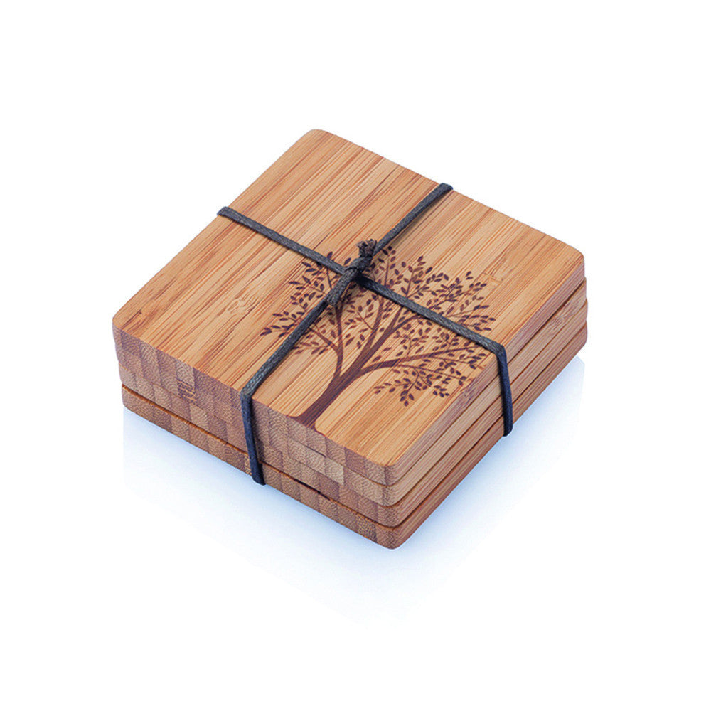 Bambu Bamboo Tree Coasters