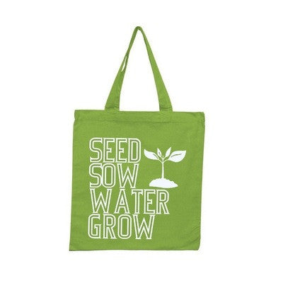 Recycled Cotton Hand Printed Tote Bag- Seed and Sow