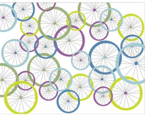 Recycled Paper Blank Greeting Card - Bicycle Wheels