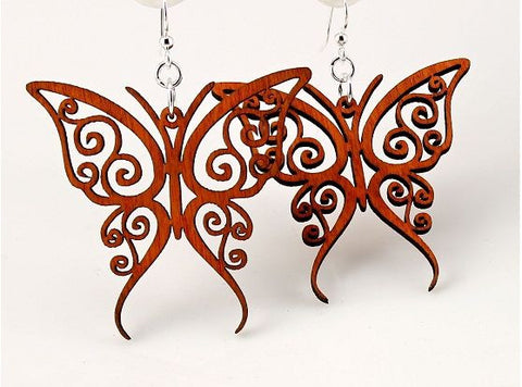 Wood Earrings- Fancy Butterflies