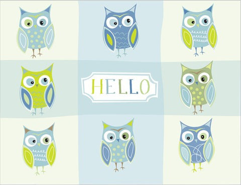 Recycled Paper Stationery Set - Hello Owls