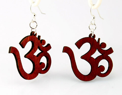 Wood Earrings- Ohm