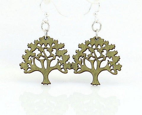 Wood Earrings- Oak Trees