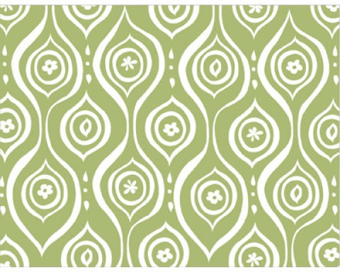 Recycled Paper Stationery Set - Green Swirls