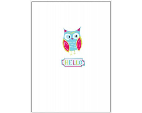 Recycled Paper Stationery Set Simply Mini - Hello Blue Owl