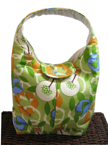 Artisan Handcrafted Cotton Insulated Lunch Bag - Think Green