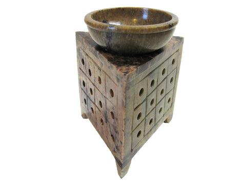 Soapstone Oil Diffuser -  Carved Triangle