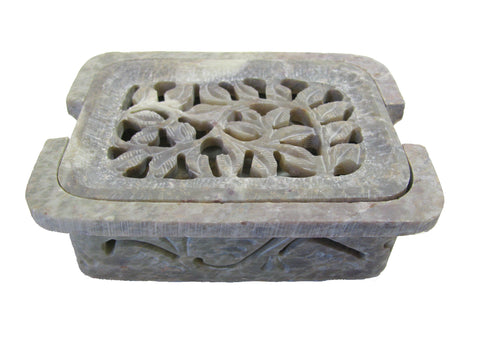 Hand Carved Flora Soapdish