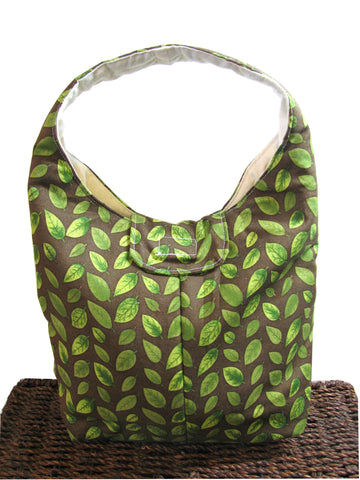 Artisan Handcrafted Cotton Insulated Lunch Bag - Wandering Vines