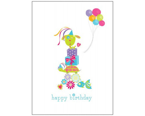 Recycled Paper Birthday Card - Balloon