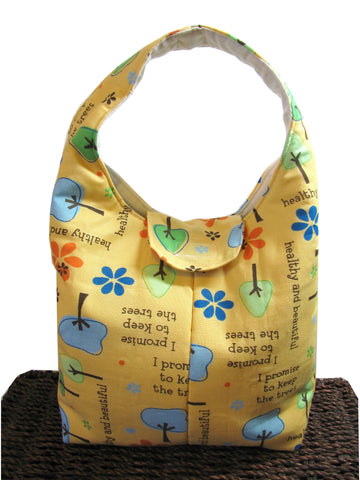 Artisan Handcrafted Cotton Insulated Lunch Bag - Healthy and Beautiful