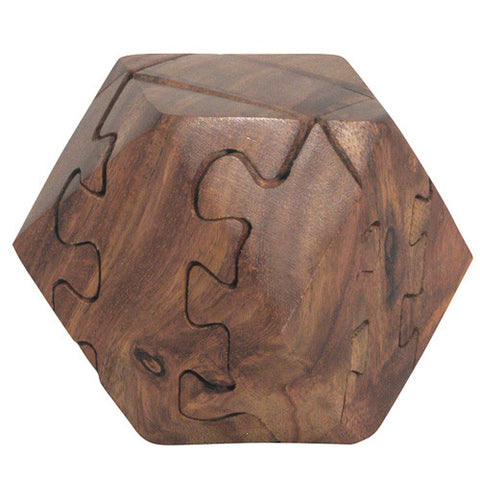 Indian Mango Wood Cube 3D Puzzle