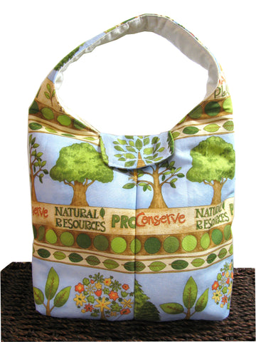Artisan Handcrafted Cotton Insulated Lunch Bag - Conserve