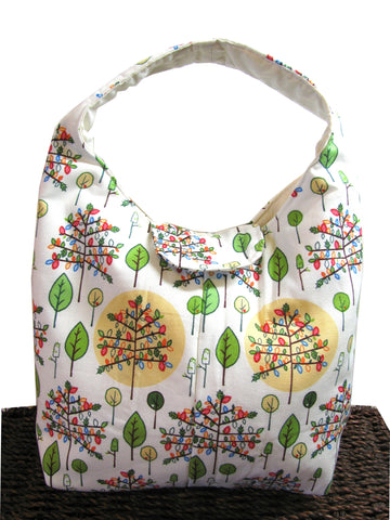 Artisan Handcrafted Cotton Insulated Lunch Bag - Whimsical Forest