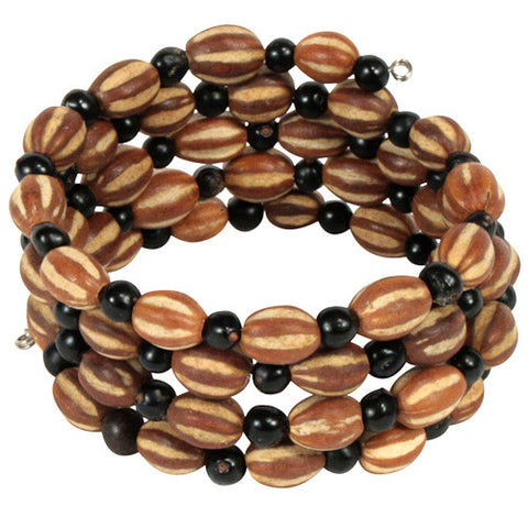 Natural Palmita and Chrilla Coiled Bracelet