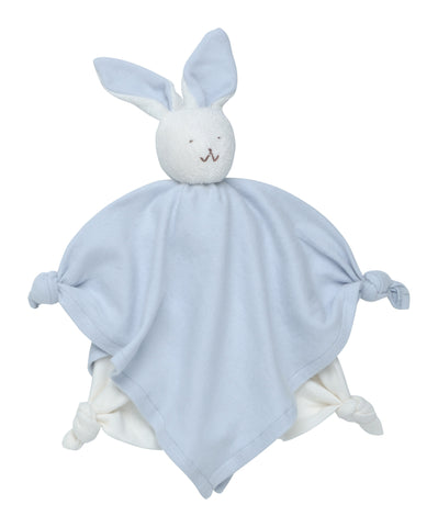 Plush Blanket Friend 100% Organic Cotton - Blue Bunny
