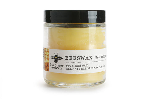 Big Dipper Apothecary Glass Candle - Unscented Beeswax